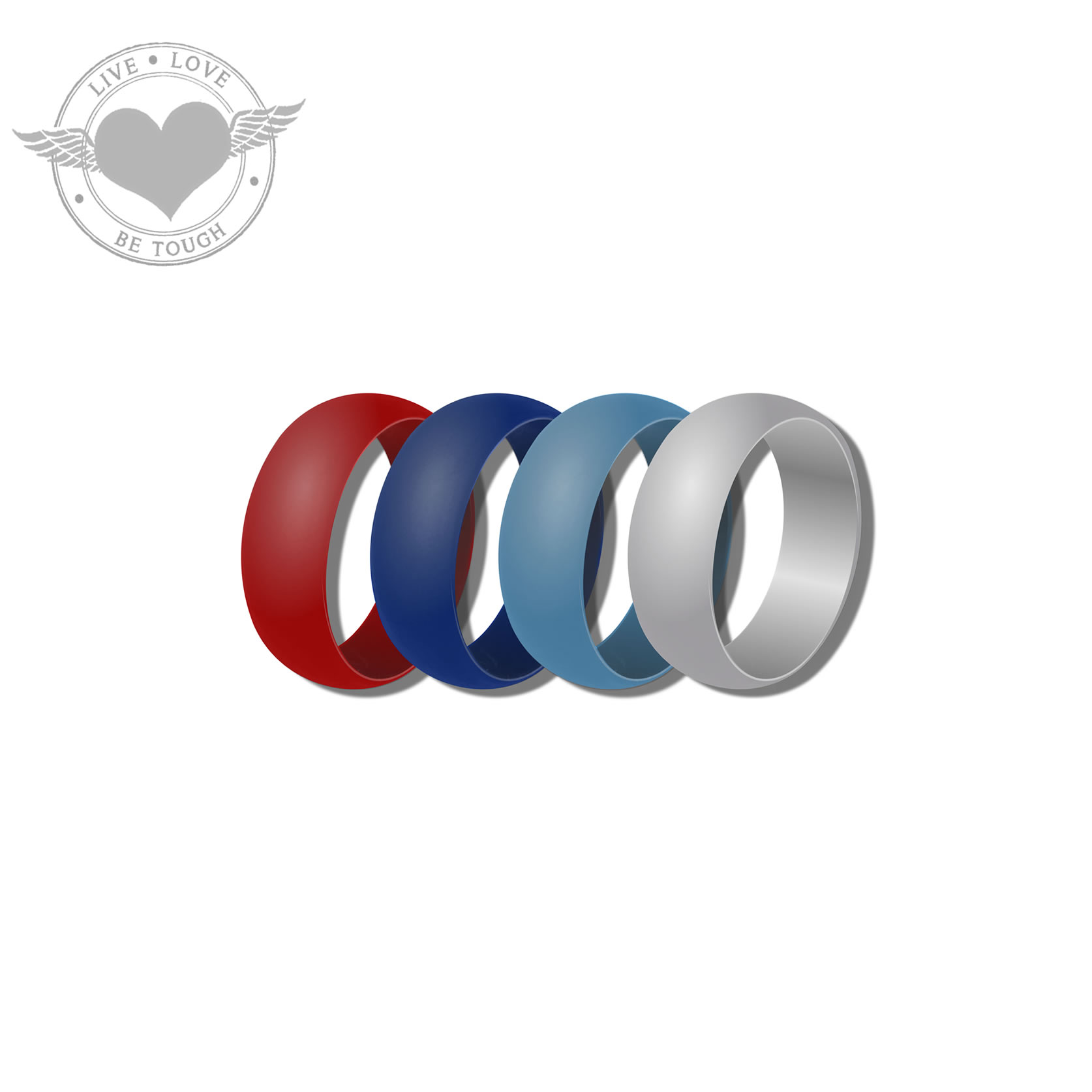 Tough Love Silicone Wedding Rings
