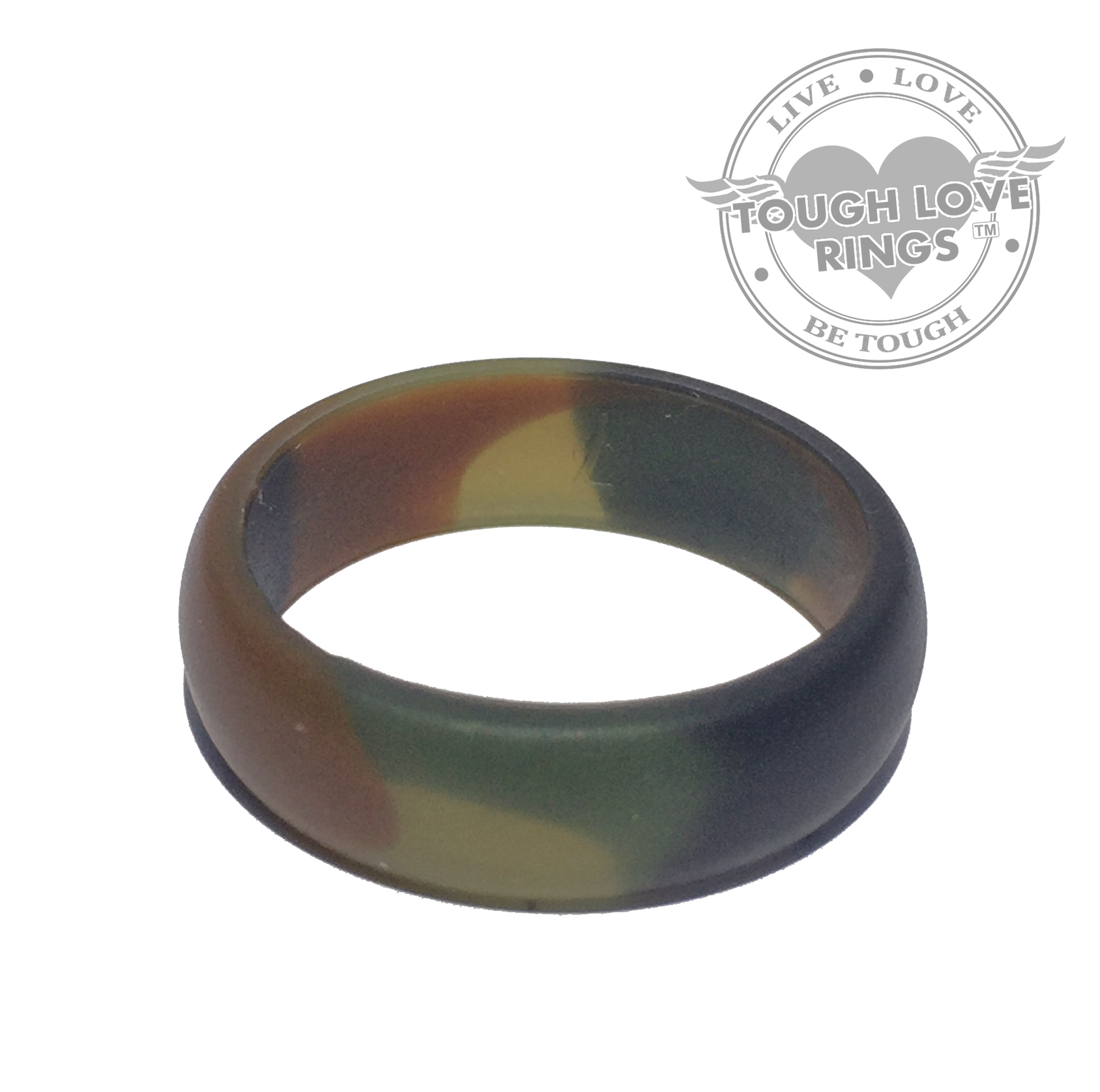 camo green silicone ring thin band 5 5mm tough love rings